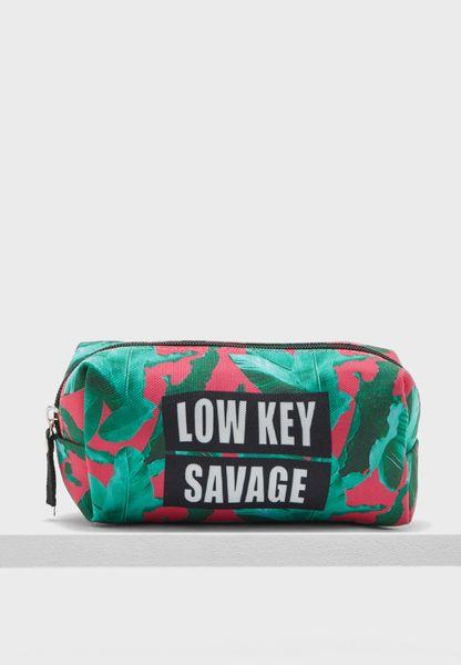 Cosmetic Bag - Low Key Savage