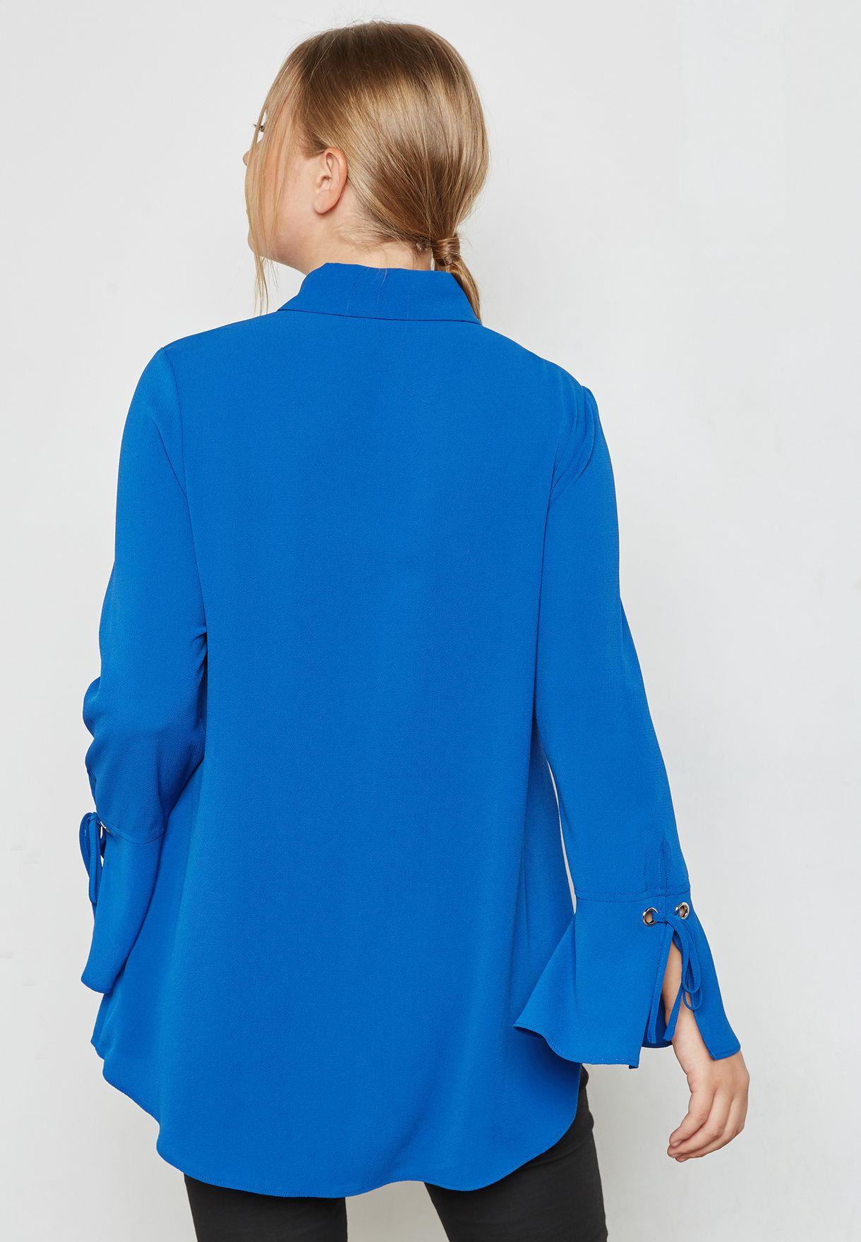Eyelet Flute Sleeve Shirt