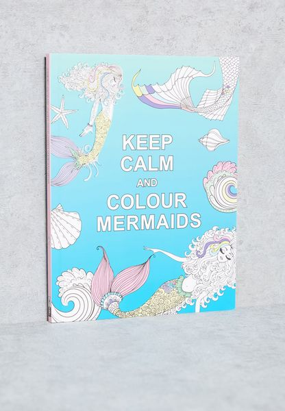 كتاب( Keep Calm & Colour Mermaids)