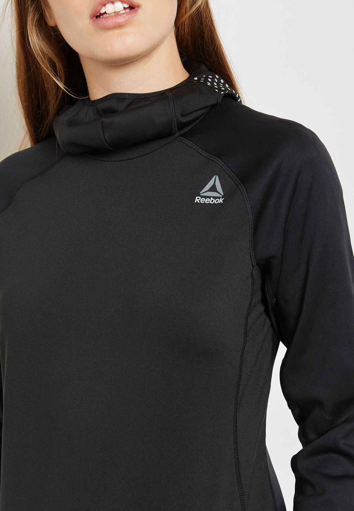 Reebok Hexawarm Reflective Scuba Hoodie Sweatshirts