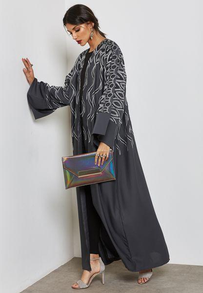 Embroidered Top Abaya