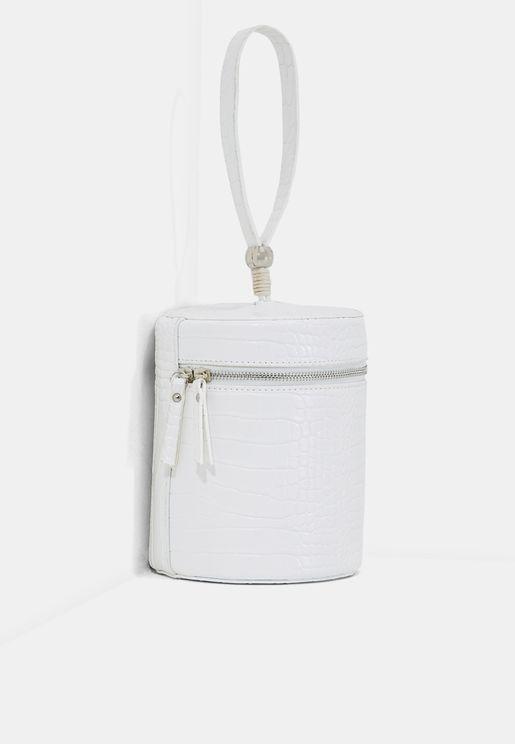 Single Handle Croc Bucket Bag