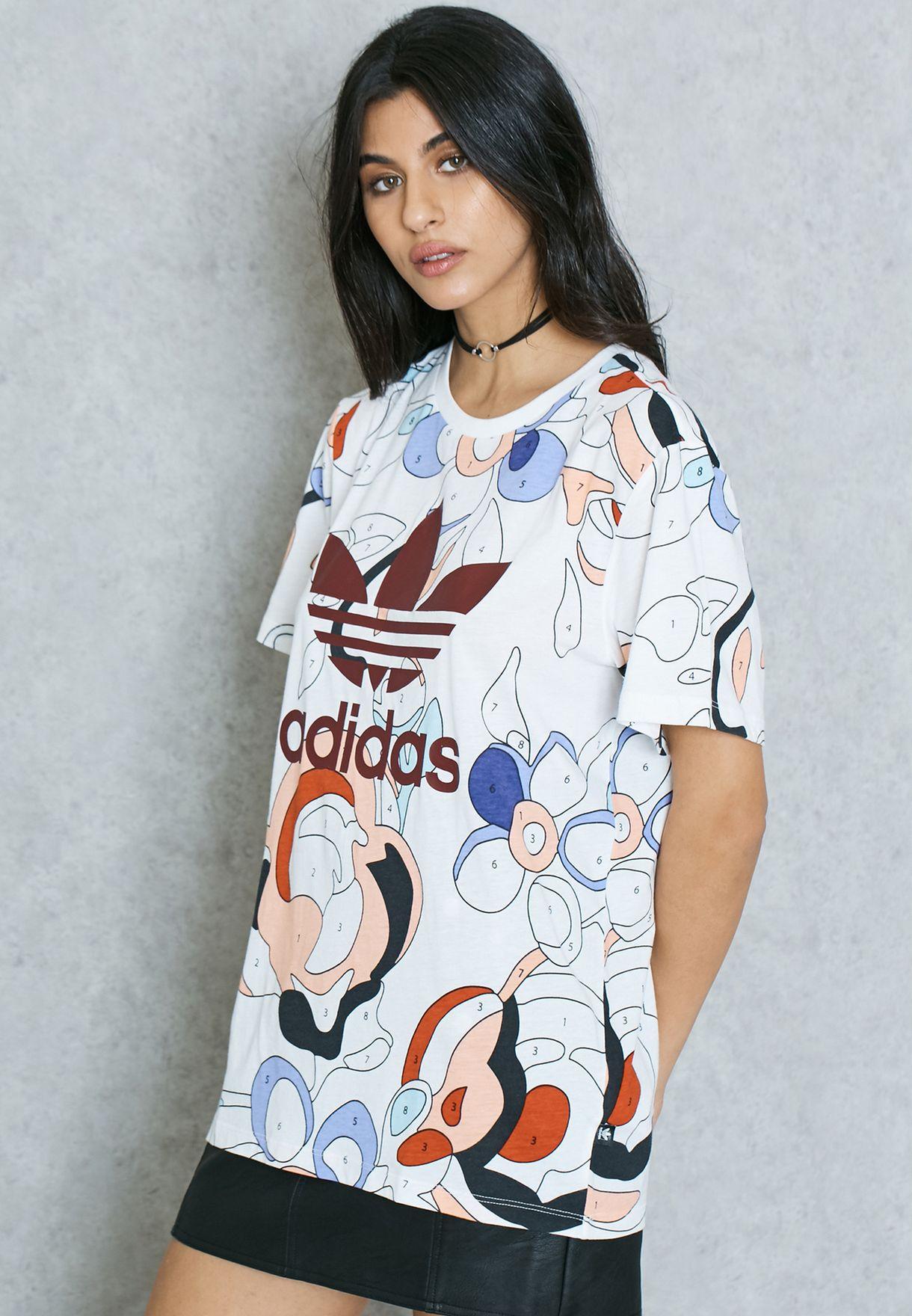 13a8ac843 Shop adidas Originals prints Rita Ora T-Shirt AY7134 for Women in ...