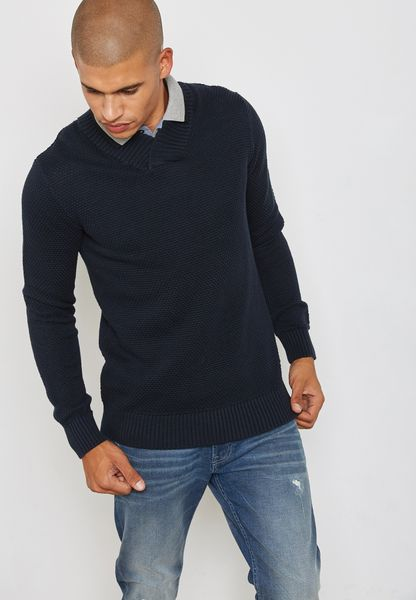 Toby Shawl  Neck Sweater