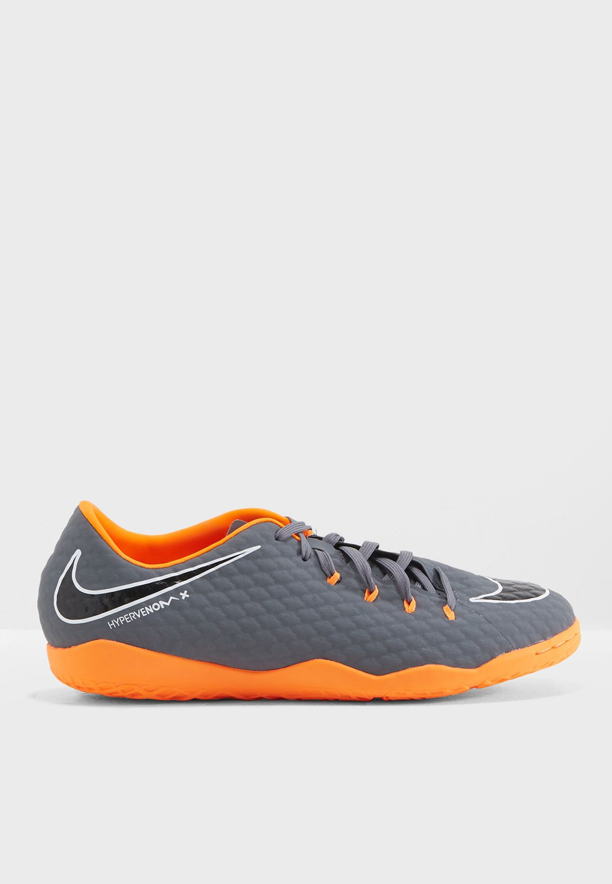 da4e21f291b Shop Nike grey Hypervenom Phantomx 3 Academy IC AH7278-081 for Men ...