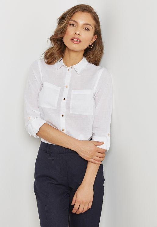Metallic Button Shirt