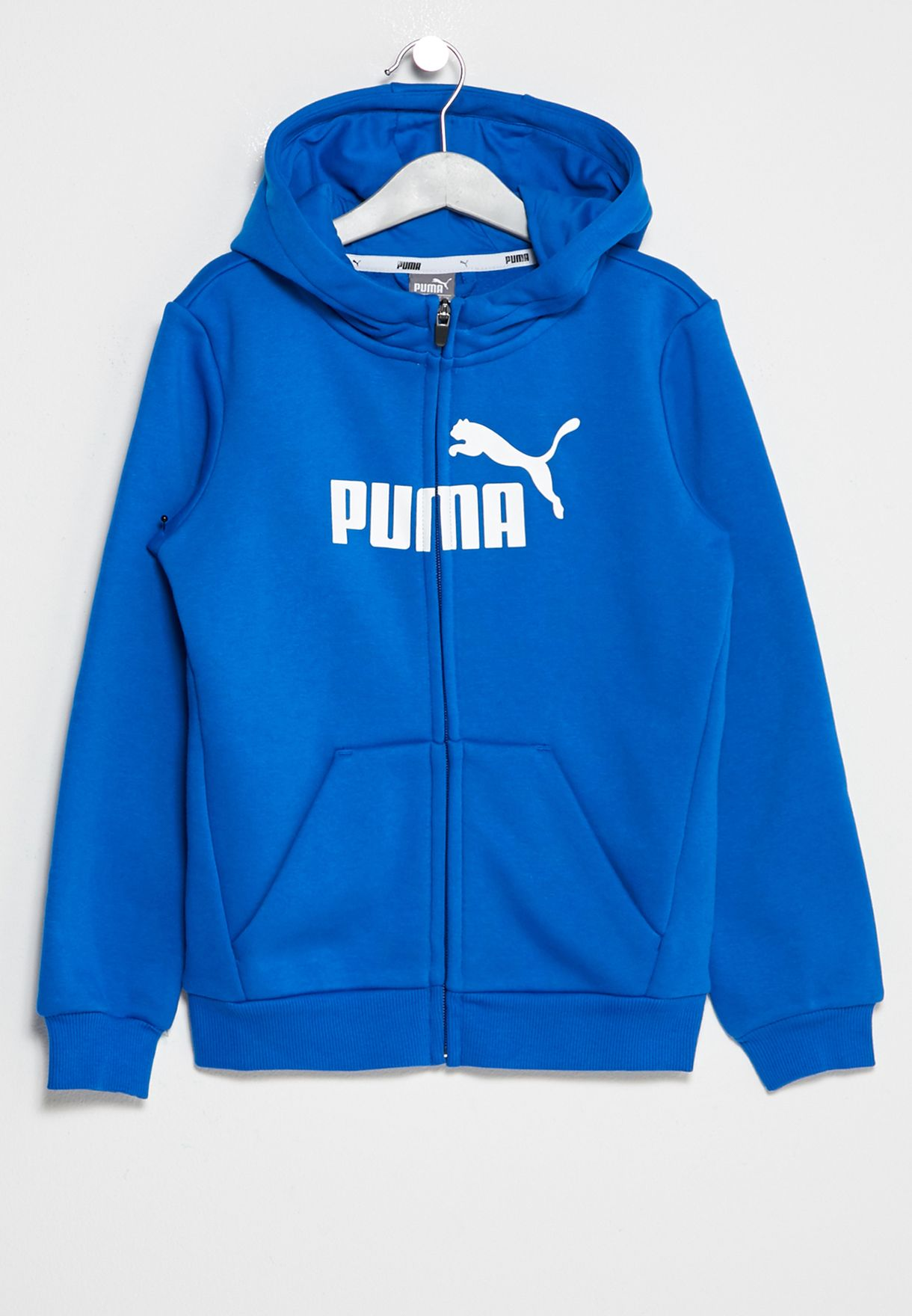 Shop PUMA blue Youth Essential Full Zip Hoodie 838723681 for Kids in ... 7e463bbc33