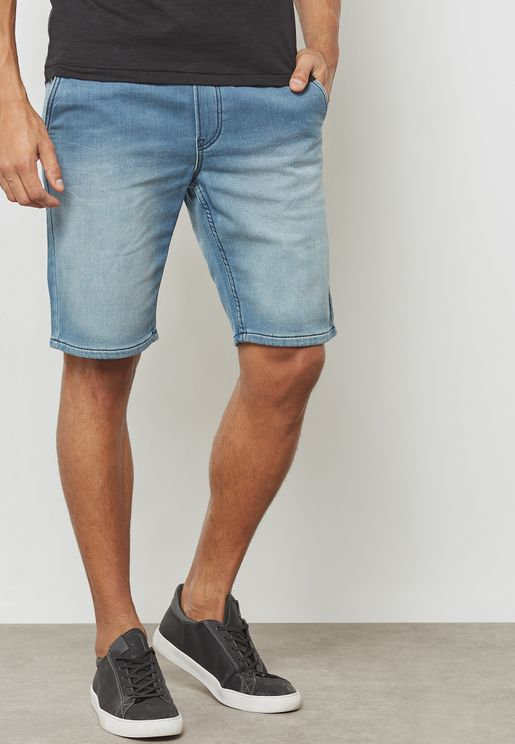 Akm Washed Denim Shorts