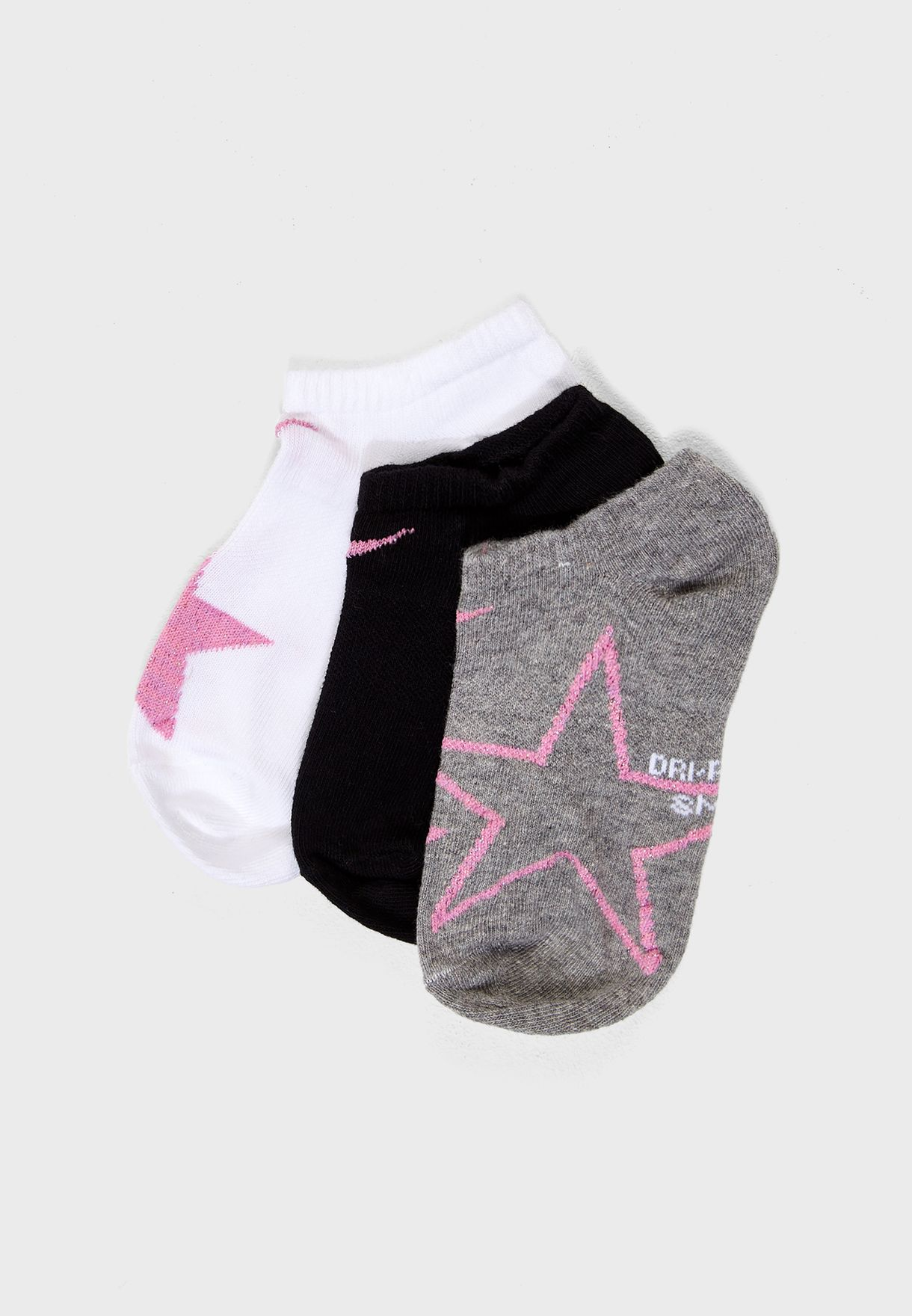 official photos 0300d 95c88 Youth 3 Pack No Show Socks