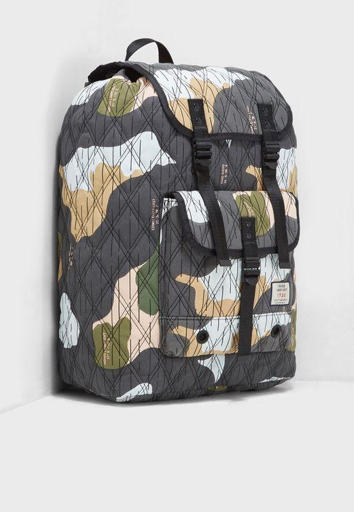 Ams Blauw Camo Backpack