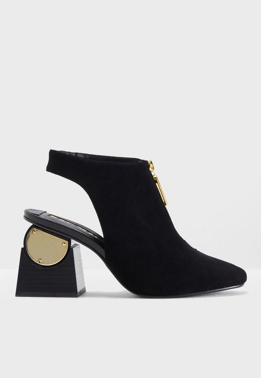 Delta Open Back Heel Booties