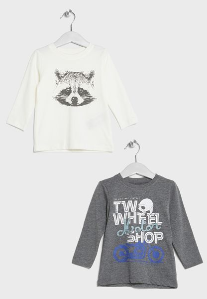 Little 2 Pack Slogan T-Shirts