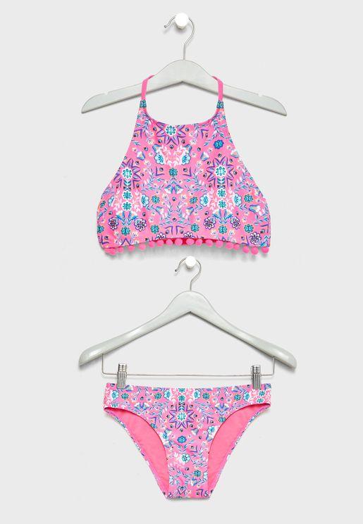Teen Tassel Detail Bikini Set