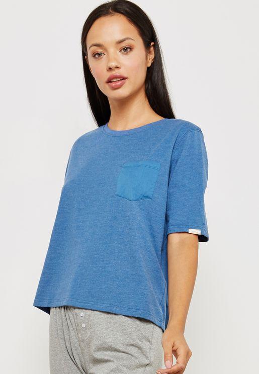 Contrast Pocket Detail T-Shirt