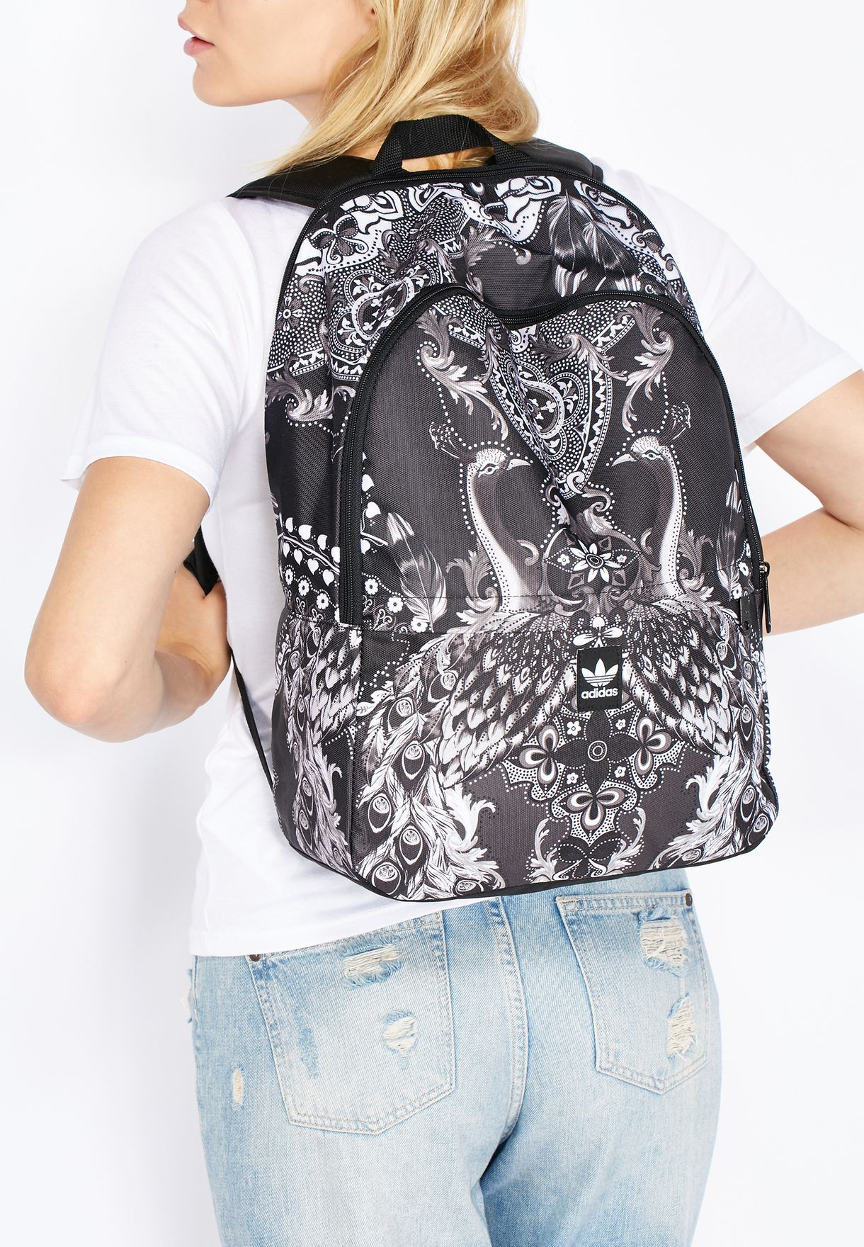 4a01d2d0da Shop adidas Originals black Pavao Essentials Backpack AY9366 for ...