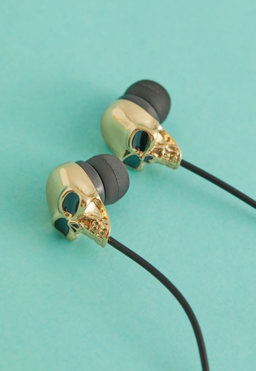 Gold Skull Earbuds