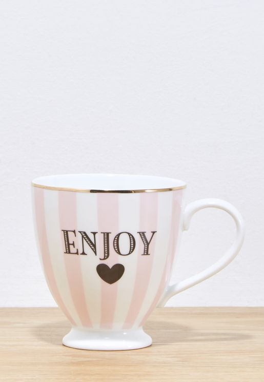 Enjoy Striped Coffee Mug