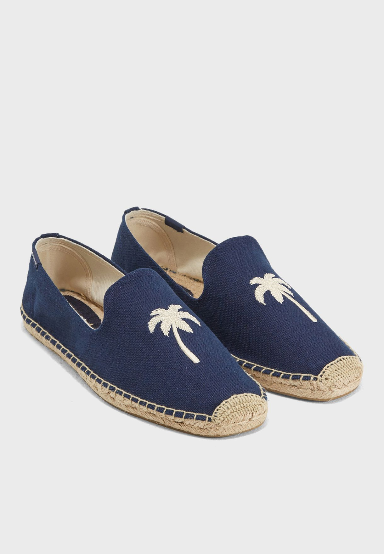 Palm Tree Smoking Slipons