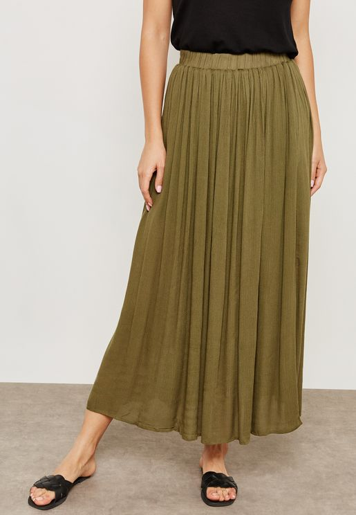 Elasticated Waist Maxi Skirt