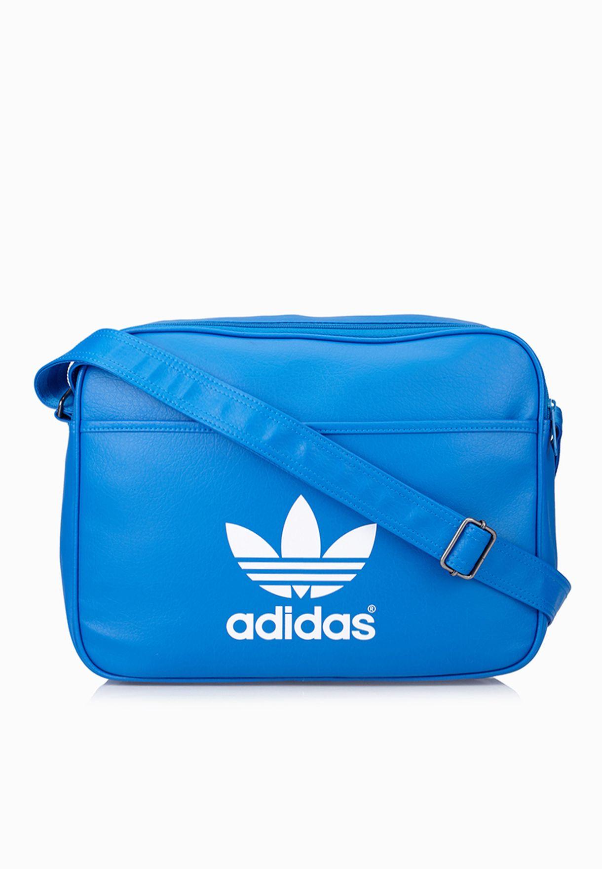 a32f6be018f9 Shop adidas Originals blue Airliner Classic Messenger AB2708 for Men ...