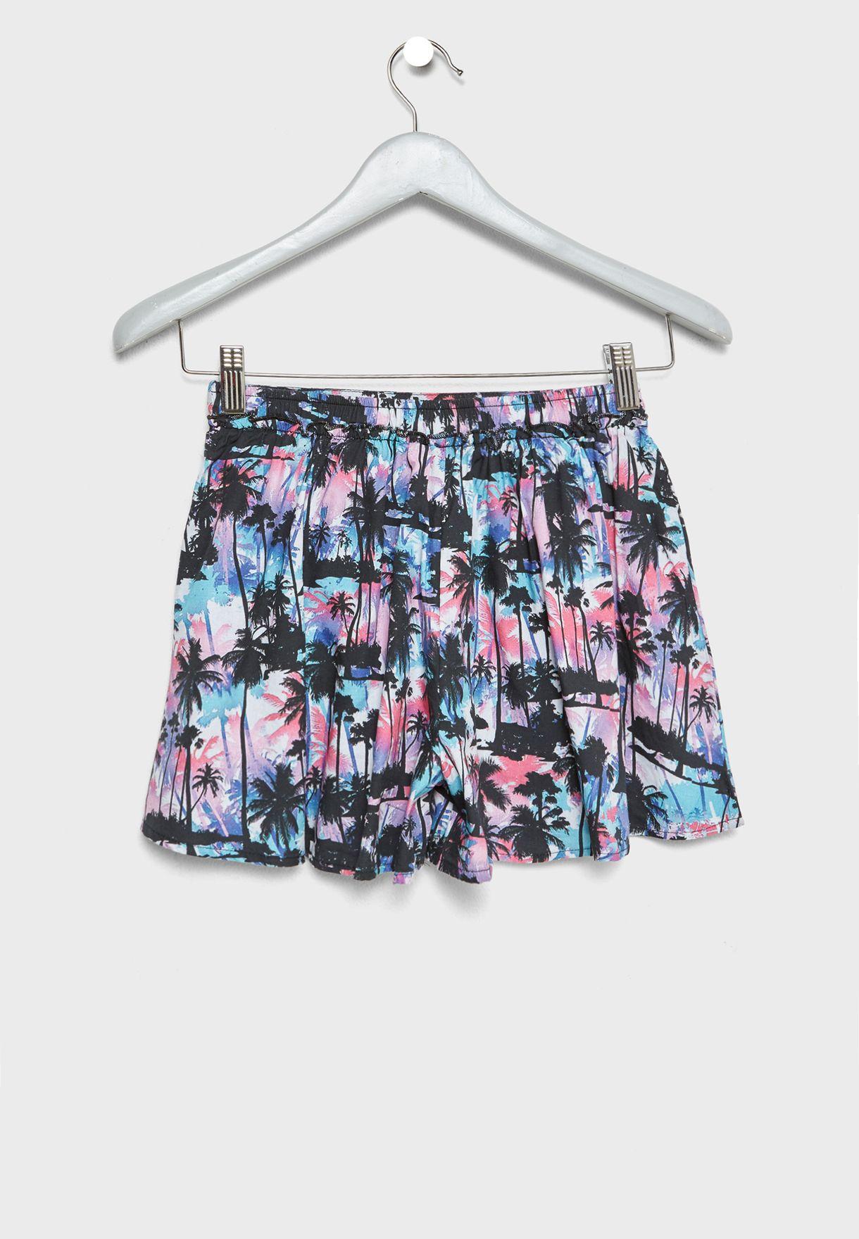 Teen Tropical Print Shorts