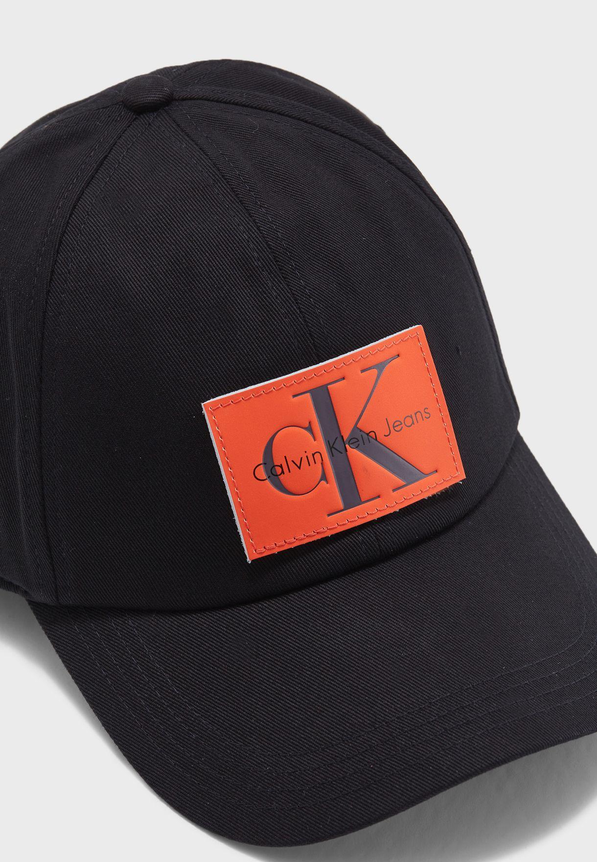 d0094c2c7829a Shop Calvin Klein Jeans black Re-Issue Patch Baseball Cap K40K400081 ...