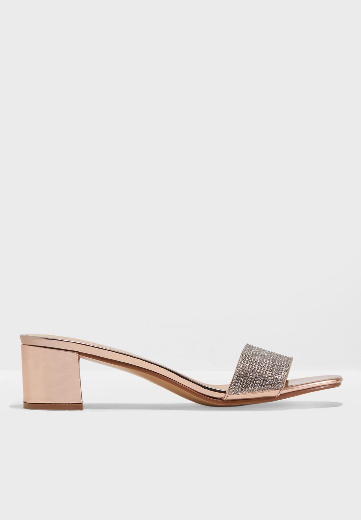 fb01179319c7 Shop Truffle silver Flat Mule Sandal AAH15 for Women in Qatar - TR619SH49FTE