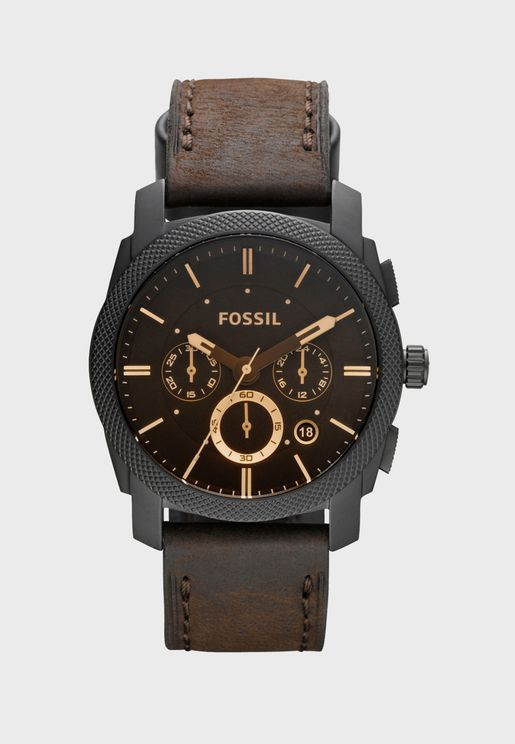 Machine Brown Leather Watch