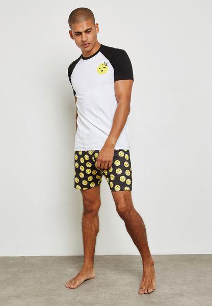 Printed Emoji Nightwear