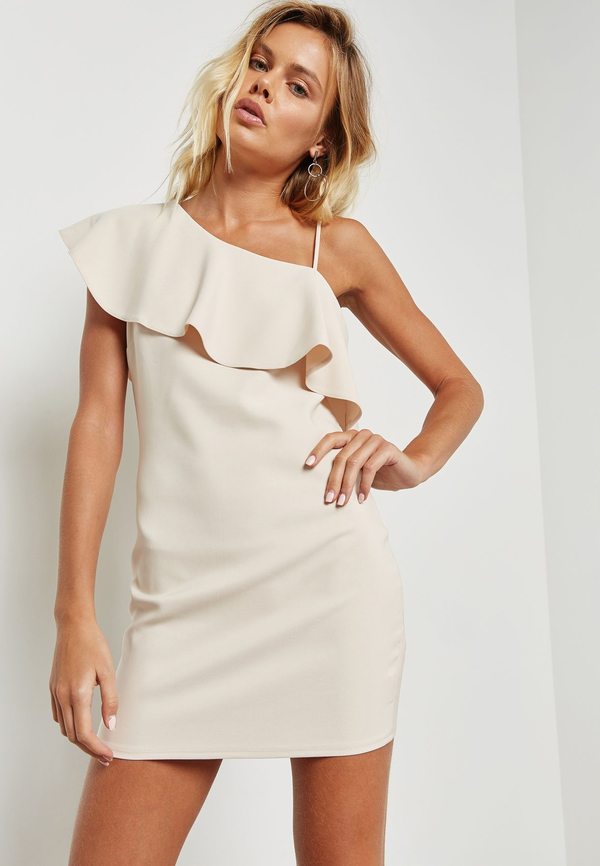 White One Shoulder Dress Forever 21