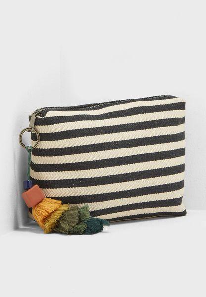 Striped Wash Bag