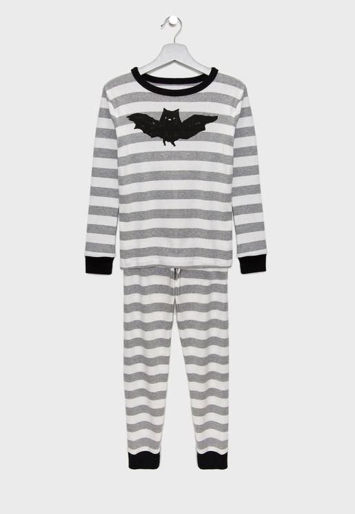 Kids Bat Graphic Pyjama Set