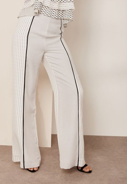 Wide Leg Stripe Detail Pants