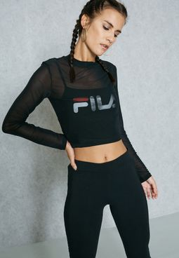 Rachelle Double Layer Mesh Crop Top