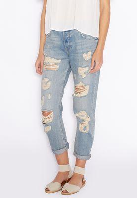 MANGO Boyfriend Ripped Jeans