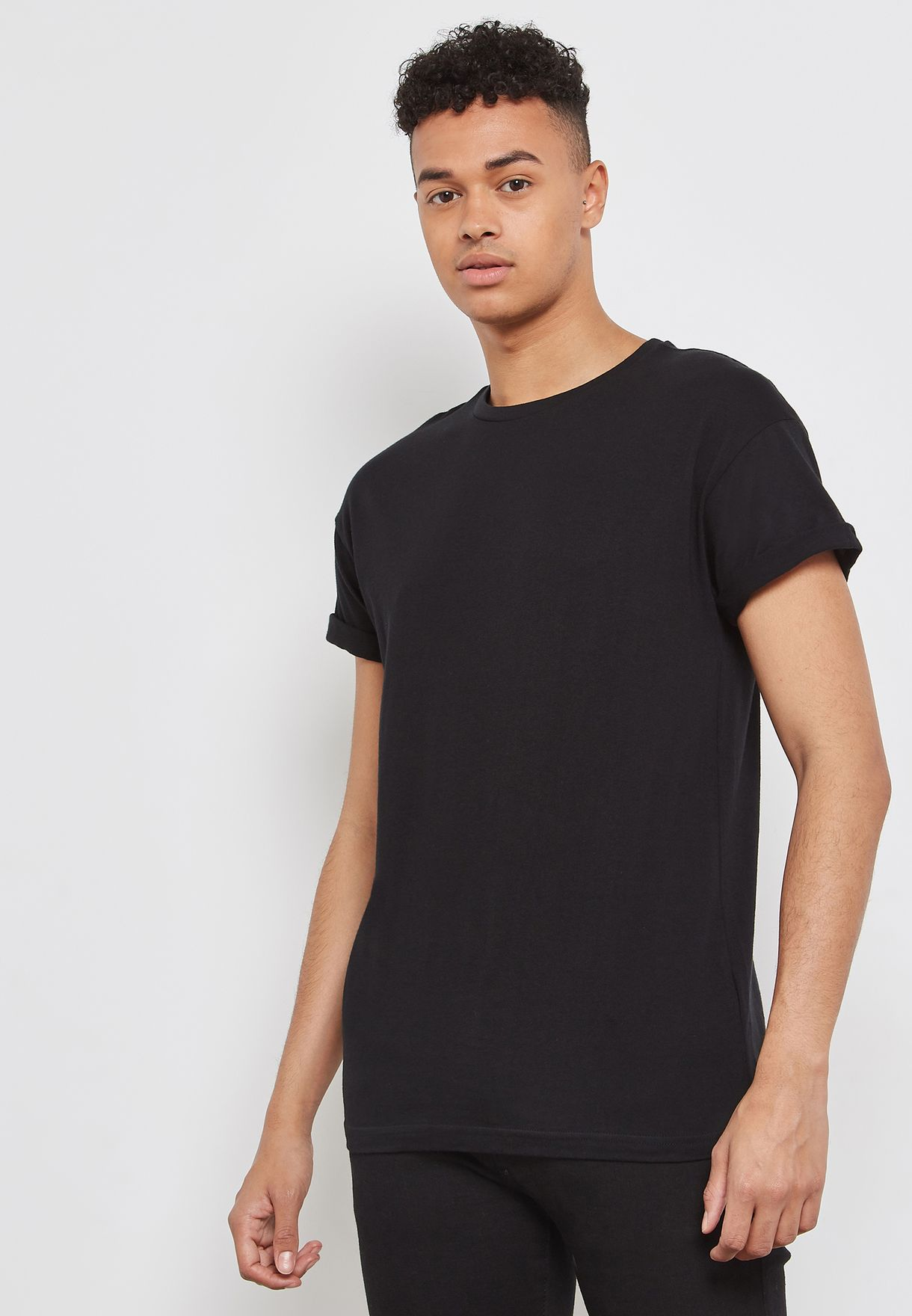 bb9ee3a4 Shop Topman black Roller T-Shirt for Men in UAE - TO857AT49MHA
