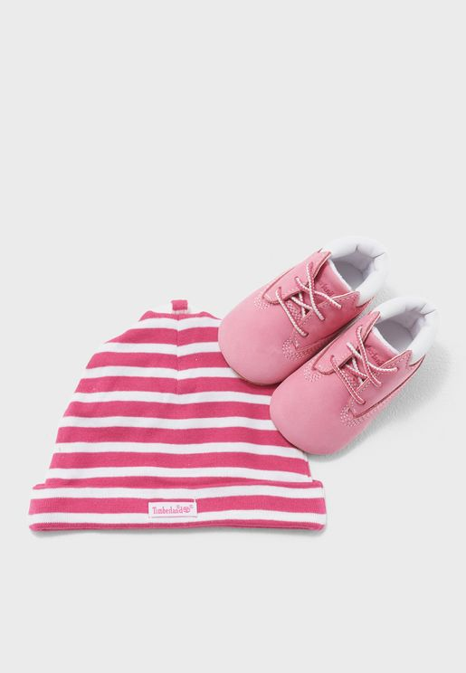 Infant Crib Bootie + Hat Set