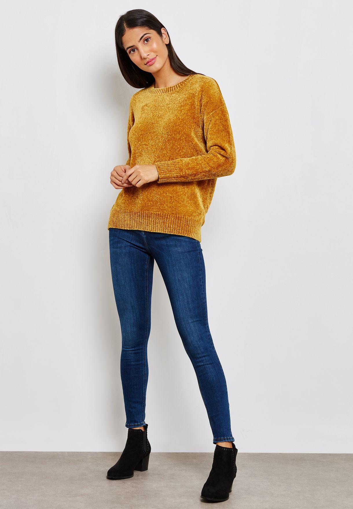 Ribbed Hem Sweater