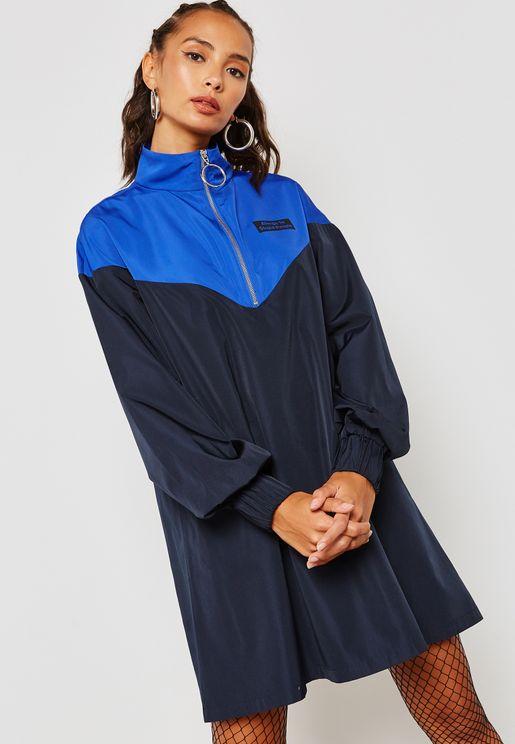 Colourblock Windbreaker Dress