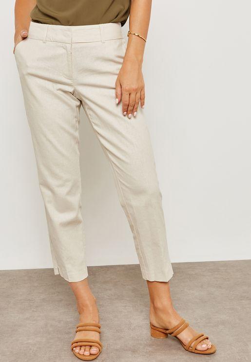 Split Hem Ankle Grazer Pants