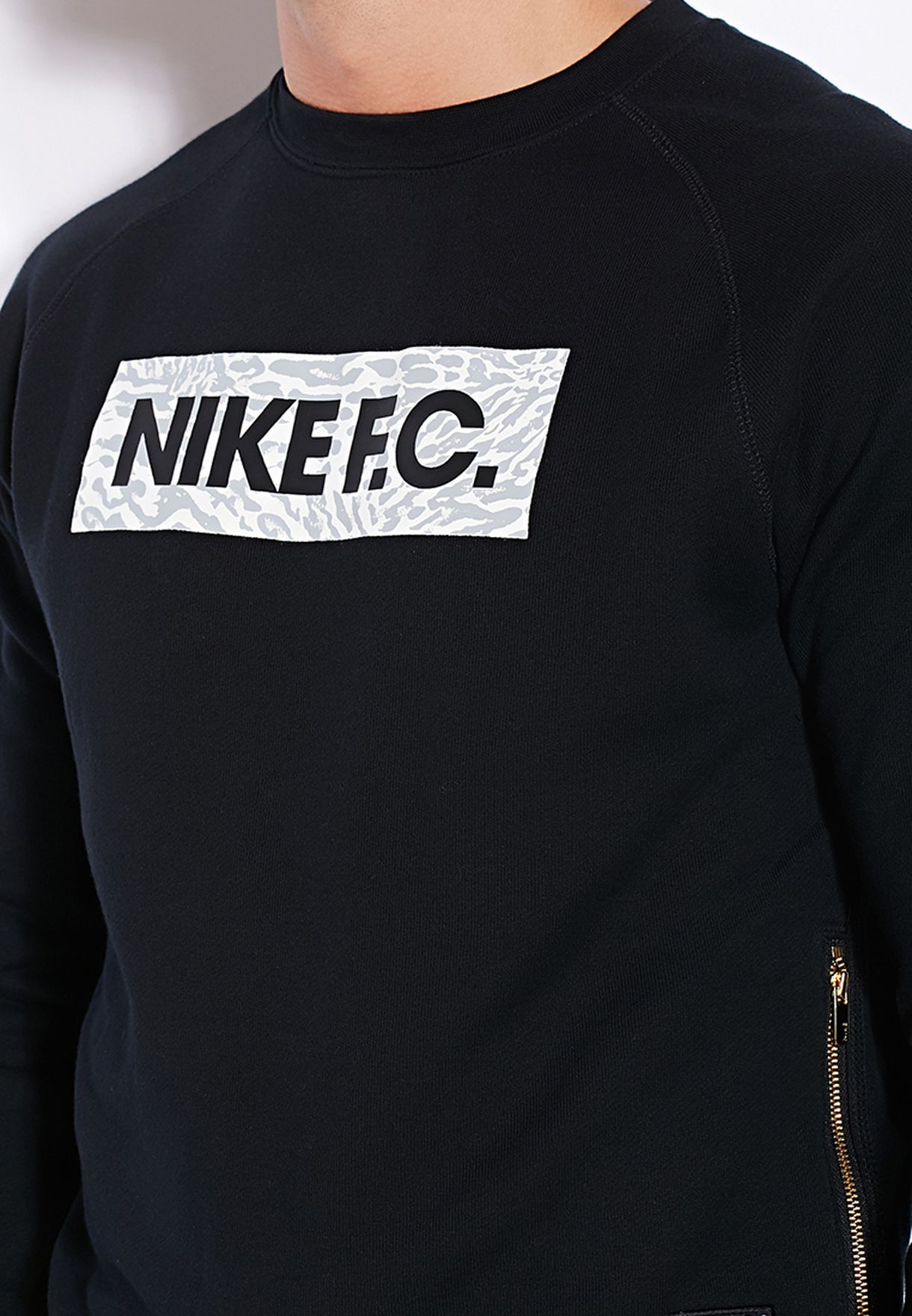 Aw77 c For Nike Shop Black 666700 F Men In Fleece 010 Sweatshirt wfIfgqt