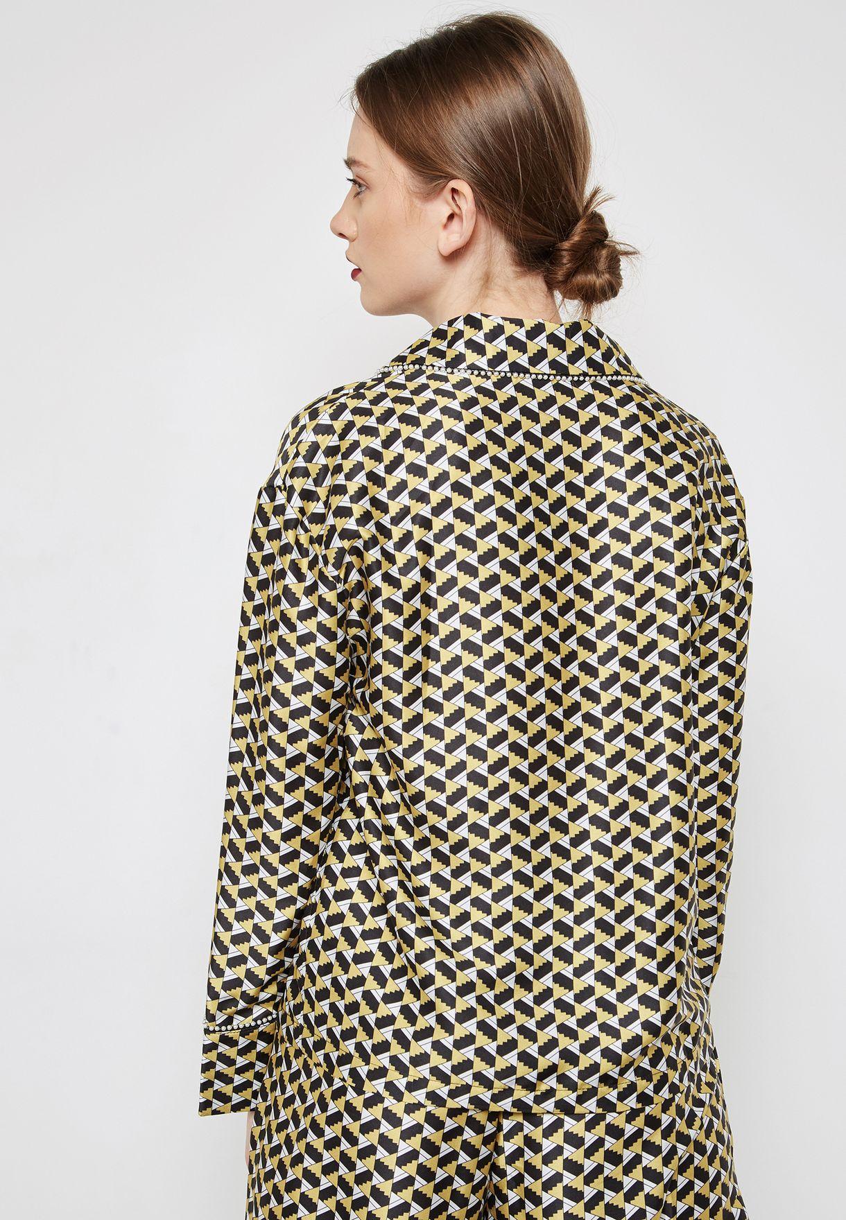 قميص بيجاما مطبع