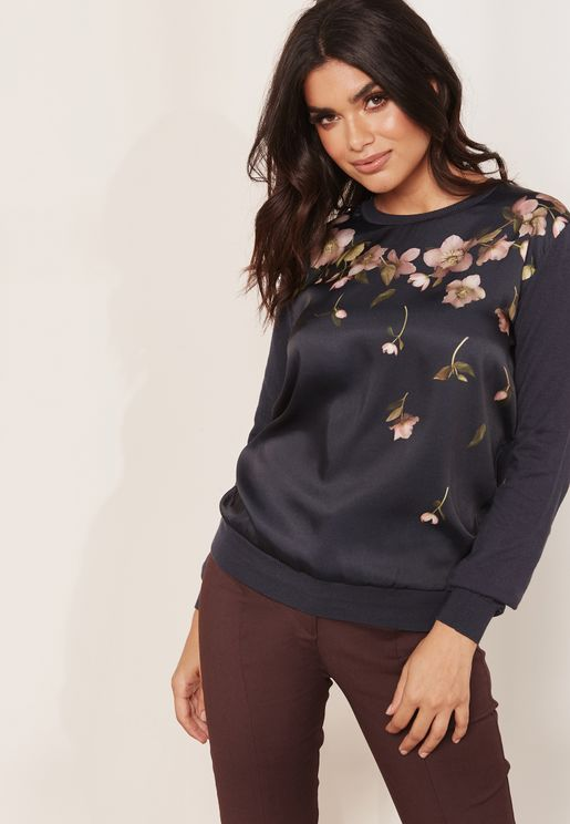 Contrast Embroidered Sweater