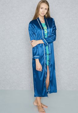 Contrast Piping Robe