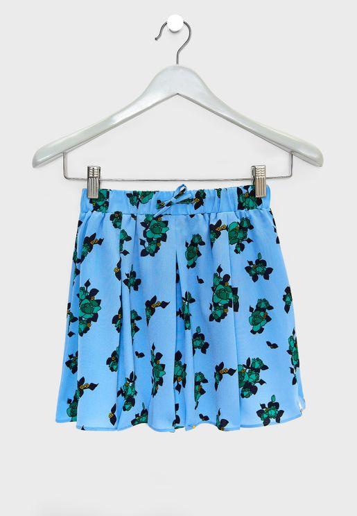 Teen Corry Flower Skirt