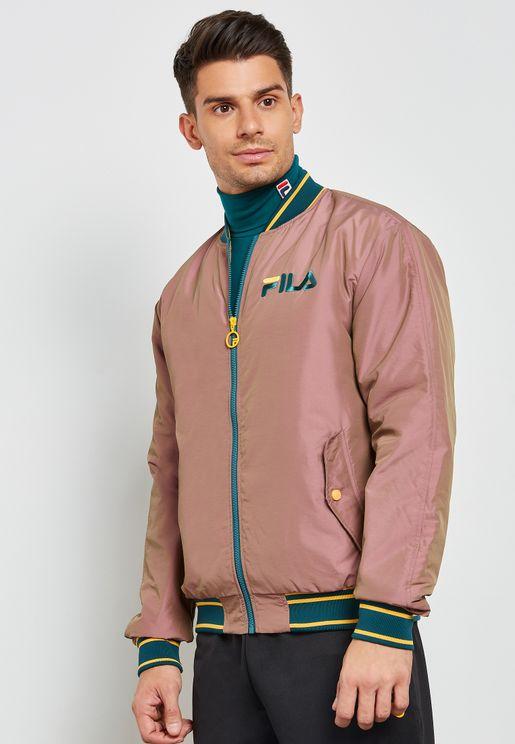 Skyler Iridescent Embroidered Bomber Jacket