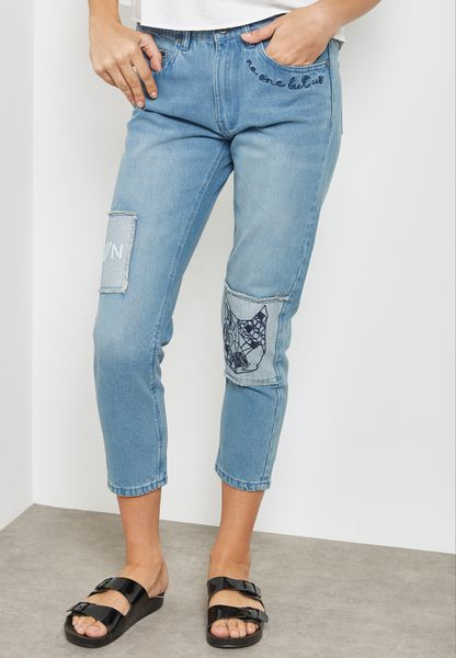 Patch Boyfriend Jeans