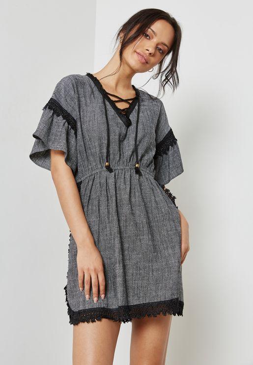 Trim Detail Dress