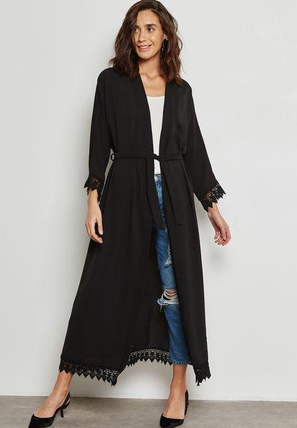 Lace Sleeve Detail Kimono