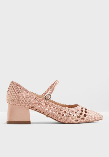 Jenna Woven Court Shoes